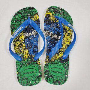 Havaianas People Print Flip Flops Sandals 9 10